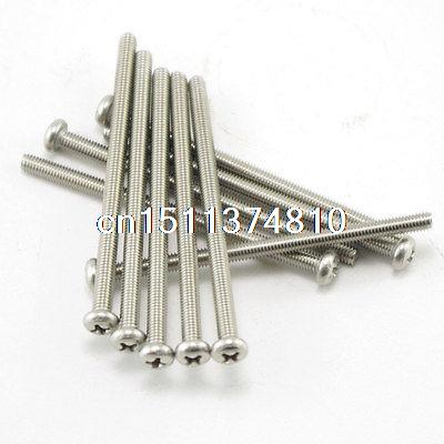50 Metric <font><b>M3</b></font> <font><b>40mm</b></font> Stainless steel Cross Recessed Pan Head Screws image