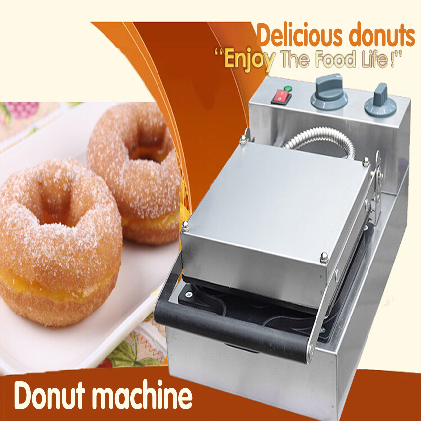 1PC FYX-4A 220V Commercial Non-stick Electric Doughnut Maker Machine 9 holes donut machine in waffle makers mini household automatic donut baking machine electric non stick cake doughnut makers breakfast making pancake machine