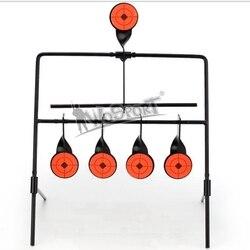 Offre spéciale 5 cibles auto-réinitialisation filature fusil à Air comprimé tir métal cible ensemble pour la pratique/jeu