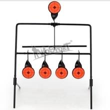 Offre spéciale 5 cibles auto réinitialisation filature fusil à Air comprimé tir métal cible ensemble pour la pratique/jeu