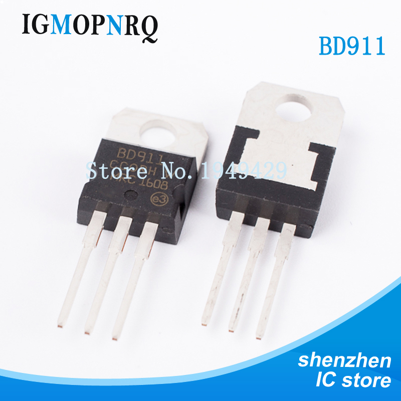 10PCS BD911 BD912 TO-220 Bipolar Junction Transistor (BJT) NPN General Purpose New Original Free Shipping
