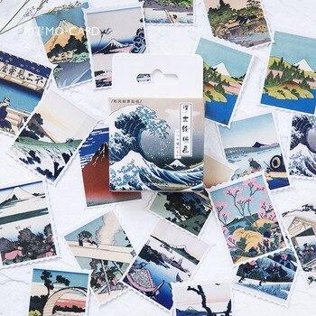 Набор наклеек для японского вида 45 шт./кор., декоративные наклейки для канцелярских товаров, скрапбукинга, дневника, альбома