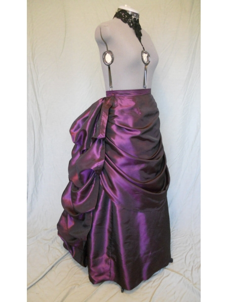 Purple Taffeta Victorian Bustle Skirts