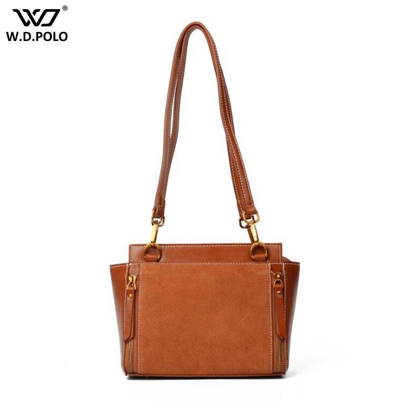 WDPOLO NEW genuine leather women shoulder bags winter design vintage women handbags super chic lady messenger bags bolsa C209