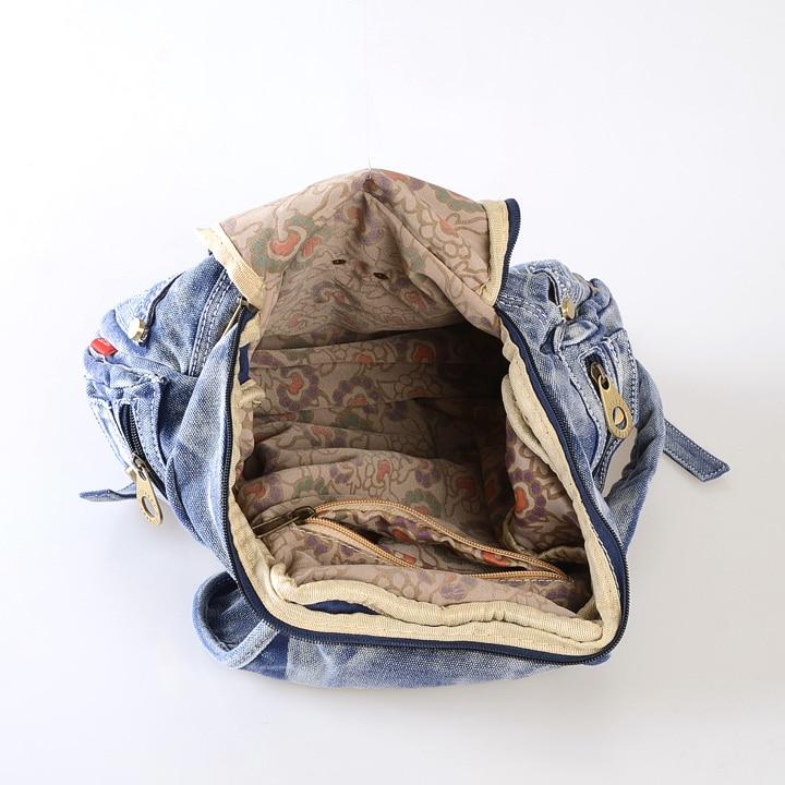De Denim Sacs Casual Jeans Baiser Karen À Mode Black denim Blue Dos Cowboy Daypacks Design Luxe Femmes Dames Sac 7bf6gy