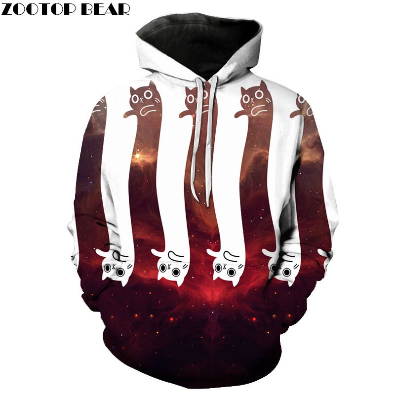 Space Cat Printed Hoodies Sweatshirts Men Women Hooded Tracksuits Autumn Spring Hot Sale ...