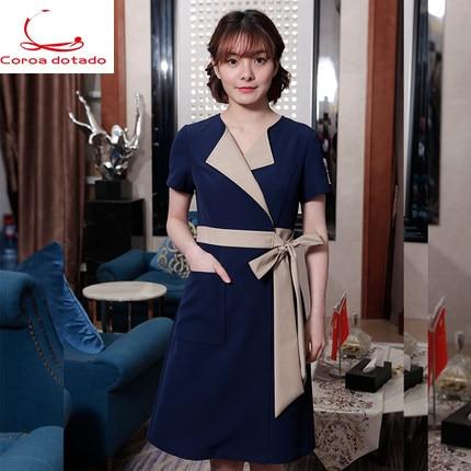 New beautician medical beauty dress nurses wear women staff work clothes salon