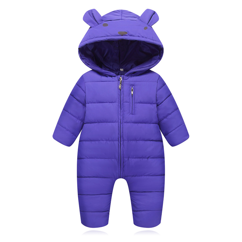 HYLKIDHUOSE 2018 Winter Infant Newborn Rompers Baby Girls Boys Rompers Warm Toddler Children Jumpsuits Outdoor Coats Costume