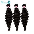 Brazilian Virgin Hair Deep Wave Human Hair Extensions Brazilian Hair Weave Bundles Deep Curly 3PCS/Lot Rosa Queen Hair Products