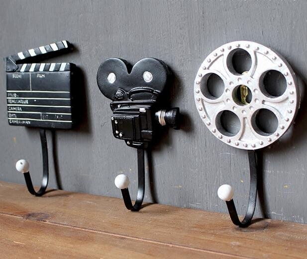 Creative Coat Hooks european style wintage fashion tape record creative wall