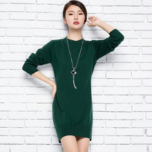 adohon 2017 womens winter Cashmere sweaters and auntmun women knitted Dresses Pullovers High Quality Warm Female thickening