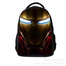 2019 Heroes Iron Man Pattern Student Backpack Children Pupil School Bag Boys/Girl Backpacks Book Bags for Kids