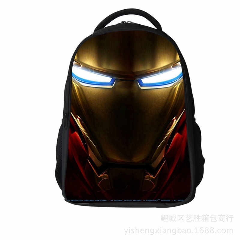 2020 영웅 철 남자 패턴 학생 배낭 어린이 학생 학교 가방 소년/소녀 배낭 책 가방 어린이위한