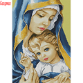 5D DIY Diamond Painting Full Square Round Drill Religious Madonna & baby Embroidery Cross Stitch 5D icon gift Home Decor mosaic