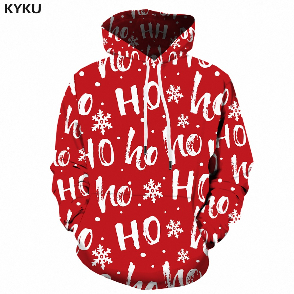 KYKU Brand Christmas Hoodies Women Xmas Woman Clothes Gifts Japanese Forest Ladies Hoody Casual Sweatshirts Female