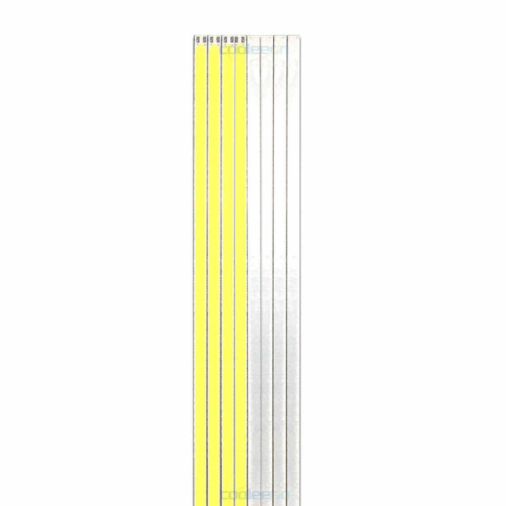 10 шт 12 V затемнения COB светодиодный свет полосы 20 см, 30 см, 40 см/50 см/60 см Теплый чистый белый светодиодный свет бар огни для освещения автомобиля выставочный лампы