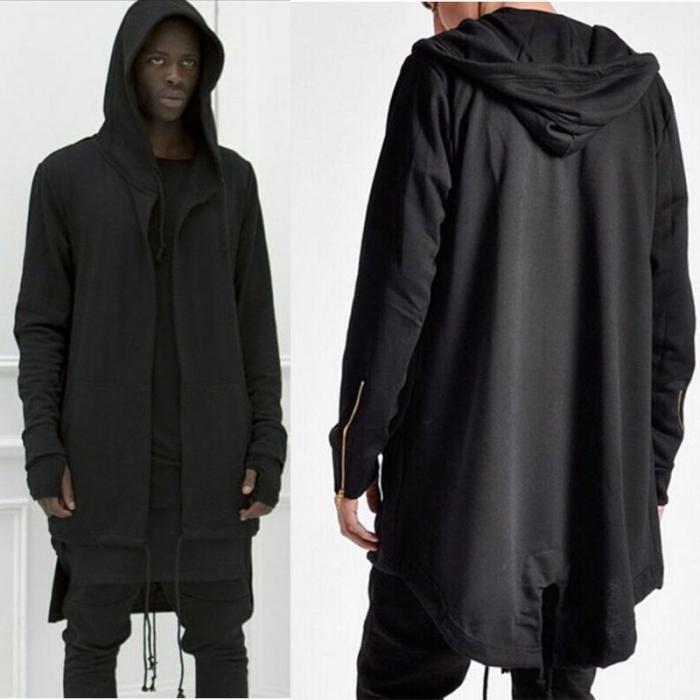 HTB1DQ4Sdv1H3KVjSZFHq6zKppXaR Newly Men Hooded Gown Hip Hop Mantle Coat Hoodies Loose Sweatshirts Long Sleeves Cloak Autumn Winter Outwear DOD886