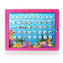 Music Toys English Spanish Bilingual Learning Machine Educational Multifunction Tablet Computer Toy Y-pad,Children Baby Gift