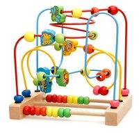 Kinder Holz Mathematik Spielzeug Zählen Kreise Bead Abacus Draht Maze Achterbahn Montessori Pädagogisches für Kinder Spielzeug