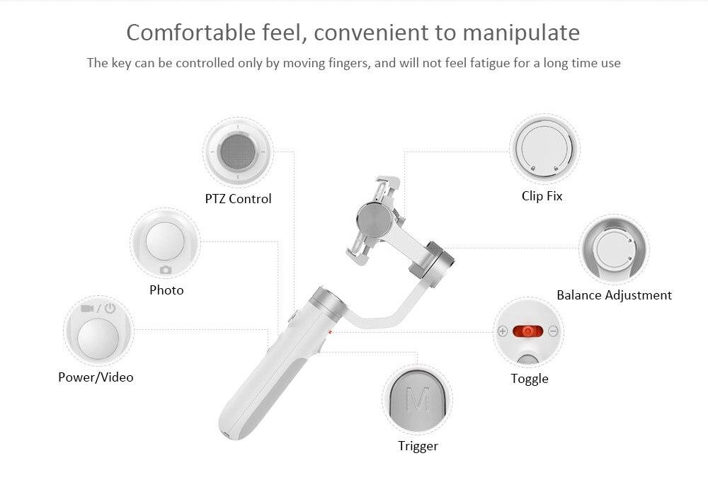 Xiaomi Mijia GH2 3 axes stabilisateur de cardan à main pour Xiaomi 4K Sport Action caméra et téléphone stabilisateur VS Feiyu Tech ZHI YUN - 5