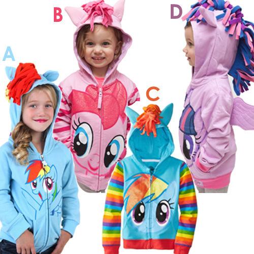 Meus ponys menina Bonito Dos Miúdos Dos Desenhos Animados Hoodies Crianças Jaqueta Jaqueta Outerwear Meninas Hoodies para Meninas Da Moda Primavera Outono