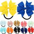 Moda 1 uniunid cinta colorida lazo elástico pelo bandas 20 colores lindo cuerda accesorios para el cabello regalo