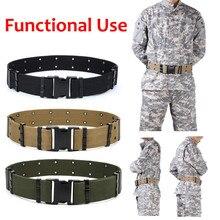 Для мужчин Спорт на открытом воздухе военный тактический нейлоновый пояс холст пояса сети ослепительно Тактические пояса дизайнерские ремни ceinture 30H