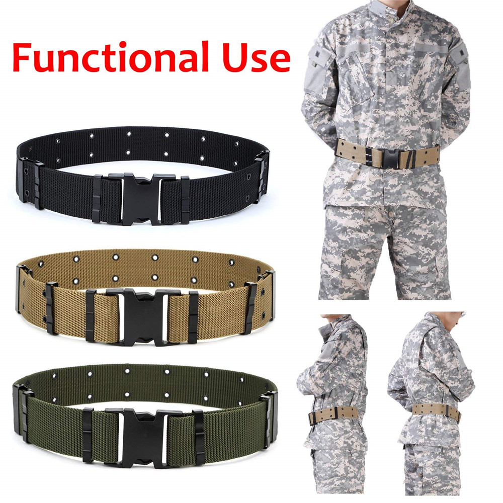 Men Outdoor Sports Military Tactical Nylon Waistband Canvas Web   Belt   Dazzling tactical   belt   designer   belts   ceinture homme 30H