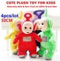 4pcs/lot Large size 50CM teletubbies plush toys Baby Toy Teletubbies Po Laa-Laa Dipsy Tinky Winky Children toys bonecas