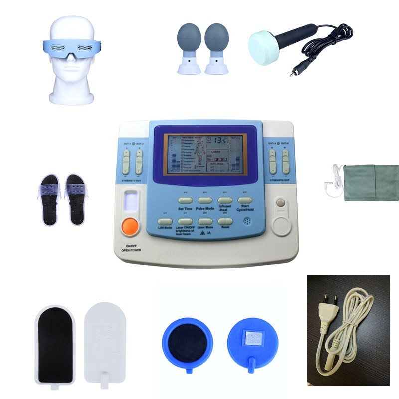 Medical ultrasound machine equipamento laser acupuntura physiotherapy equipment tens with acupuncture-laser EA-VF29 laser head owx8060 owy8075 onp8170