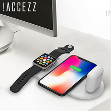 !ACCEZZ Qi Wireless Charger Fast Charging 3 in 1 For iPhone X XS Max 10W Apple Watch Airpods USB Pad Samsung