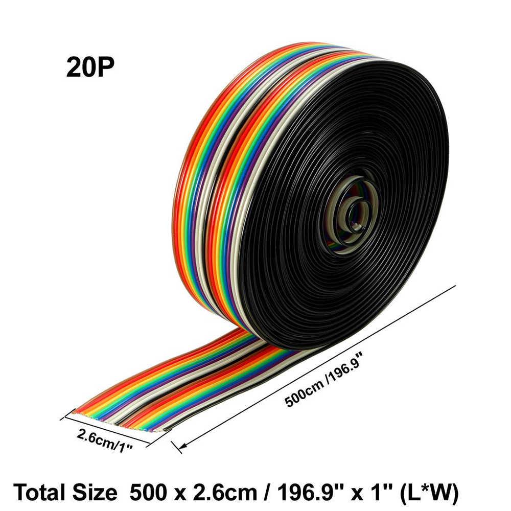 5M המגרש כבל 20P שטוח צבע שטוח קו תמיכה חוט מולחם כבל מחבר חוט