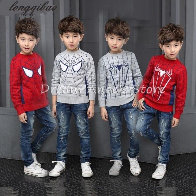 Осень детская одежда vivid 3D паук мотив мальчиков свитер ребенка с длинным рукавом хлопок кардиган мама и дочь одежда для детей пальто