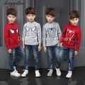 Otoño niños ropa vivid 3d motivo araña niños bebé suéter de manga larga chaqueta de punto de algodón cabritos de la ropa de la mamá y la hija