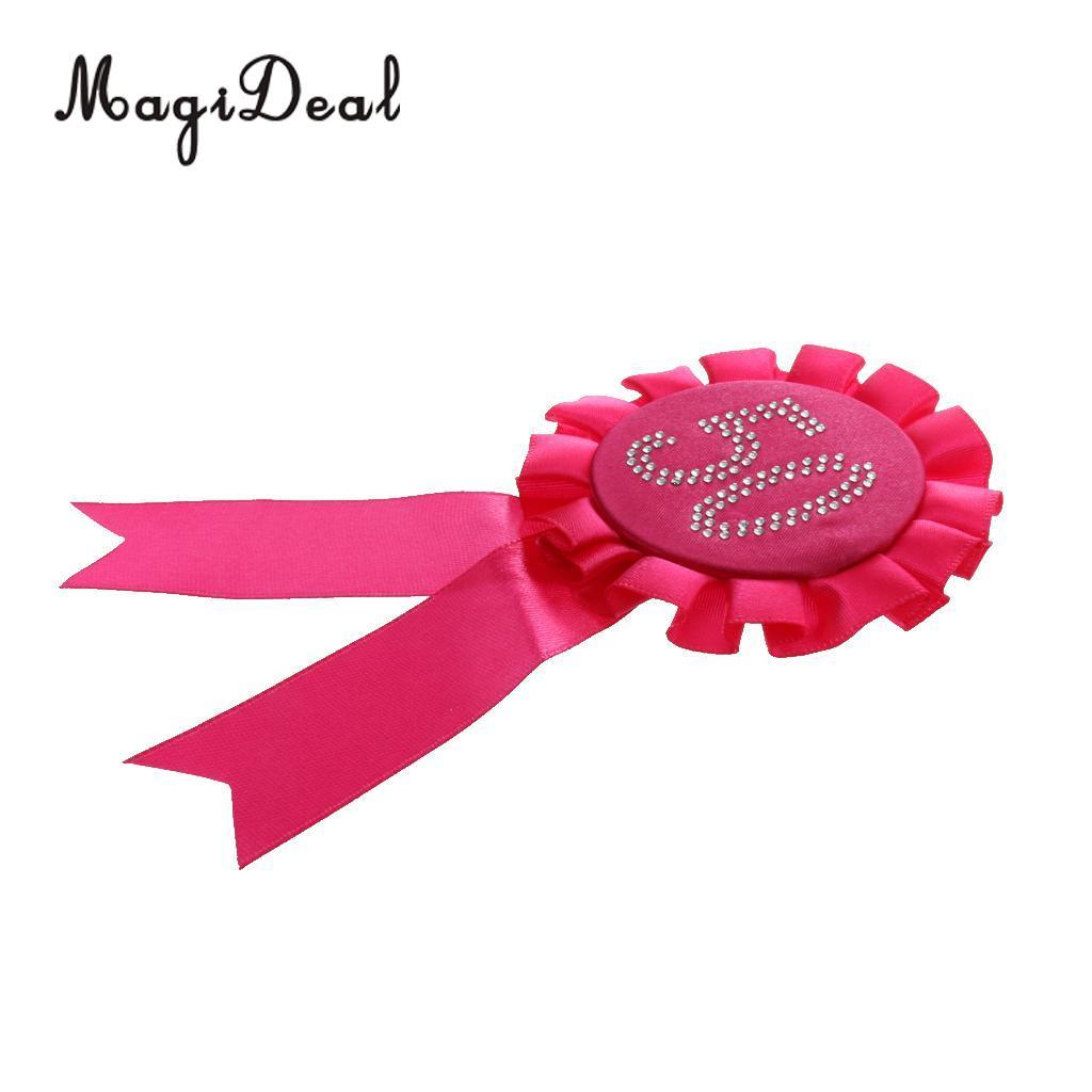 Diamante Number Rosette Badge Rose 50th Birthday
