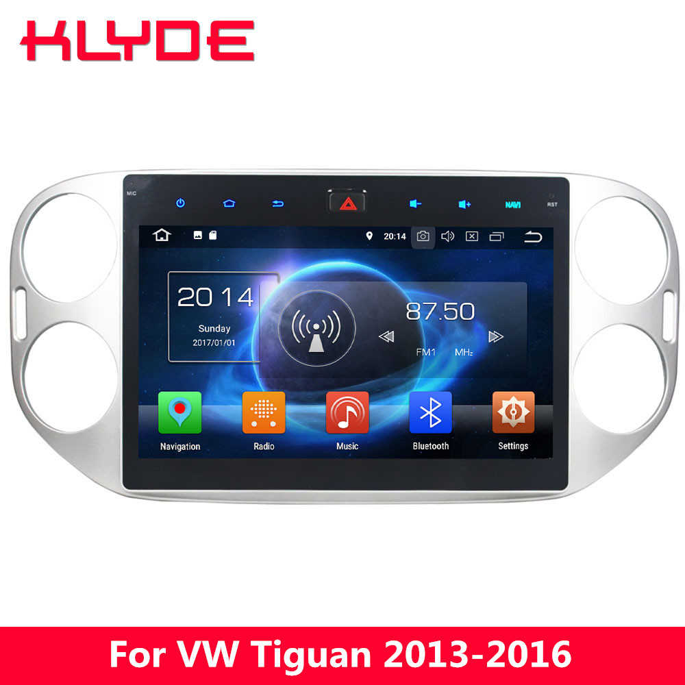 KLYDE 10.1 IPS 4G Octa Core Android 8 7.1 6 4GB RAM 32GB ROM Car DVD Player Radio For Volkswagen VW Tiguan 2013 2014 2015 2016 ownice c500 4g sim lte octa 8 core android 6 0 for kia ceed 2013 2015 car dvd player gps navi radio wifi 4g bt 2gb ram 32g rom