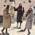 Envío libre de maternidad ropa de invierno engrosamiento térmica wadded la chaqueta más el tamaño capa M068