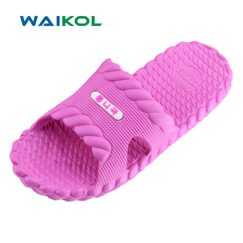 Waikol 10%OFF! Women Shoes Summer Bathroom Shoes Sandals Slipper Indoor Home Shoes Free Shipping
