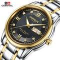 Marca de Luxo Original Carnaval Carftsmaen Homens Banda de Aço Cheio de Relógios Mens Relógio Mecânico Relógios de Negócio Masculino relógios de Pulso