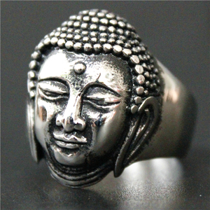 2017 New Buddha Ring 316L Stainless Steel Jewelry Ring Mens Thailand Buddha Ring(China)