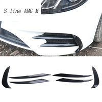 Car styling for Mercedes Benz E Class E43 E63 For AMG head fog lamp grille slats auto lights cover Stickers Trim Car Accessories