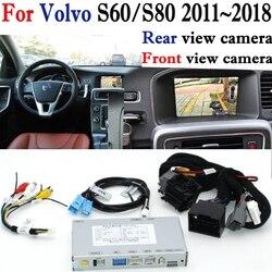 Kamera cofania adapter interfejsu oryginalny ekran ekran monitora dla Volvo S60/S80 2010 ~ 2019 Parking kamera tylna MMI dekoder w Kamery pojazdowe od Samochody i motocykle na