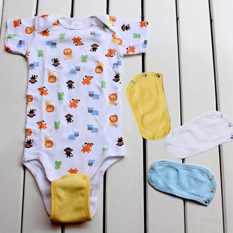 4PC Lovely  Boys Girls Kids Romper Partner Super Utility Bodysuit Jumpsuit Diaper Romper Lengthen Extend Film 4 Colors