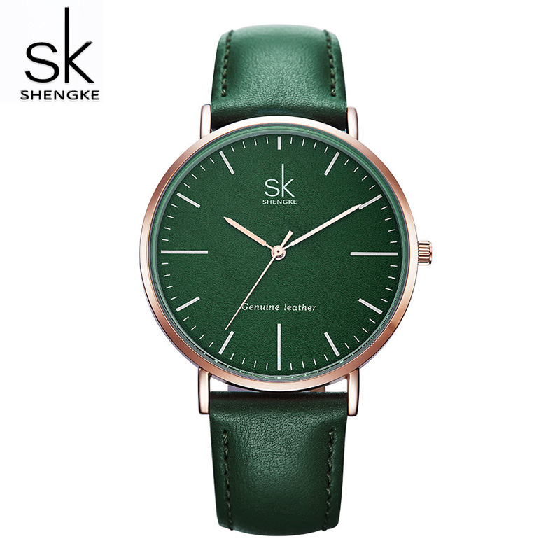 Shengke Fashion Leather Watches Women Top Brand Luxury Female Quartz Watch Casual Ladies Watches Relogio Feminino 2019 #K0082