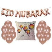 Gelukkig Eid Ballonnen Eid Mubarak brief Folie Ballonnen Mubarak Decoratie Alfabet Lucht ballen Banners Ramadan Kareem Feestartikelen