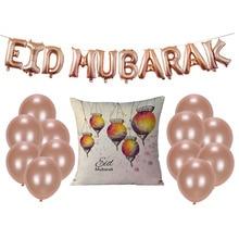 Happy Eid Balloons Mubarak letter Foil Decoration Alphabet Air balls Banners Ramadan Kareem Party Supplies
