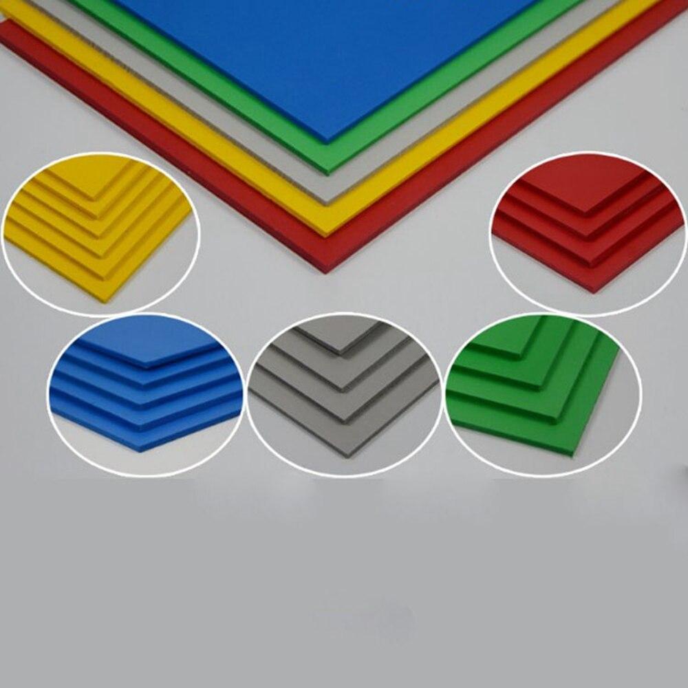 2пцс / лот 300к400мм ПВЦ плоча од пјене пластична равна плоча 5 боја плочица модел плоча