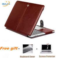 Ordinateur portable étui pour macbook Air 11 12 13 Soft PU Sac En Cuir Pour Pro Retina 13.3 15 Touch Bar A1706 A1989 A1707 Ordinateur Portable Housse