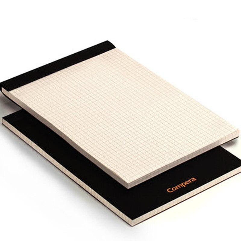 A5 b5 a4 upturning kraft notebook capa preta composição bloco de notas grade em branco almofada legal para escritório e escola suprimentos notas memorando