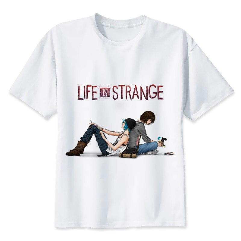 Life Is Strange T Shirt Men Anime T-Shirt Men Tops Boy Short Sleeve T-shirt Top Tee Clothes MR1158